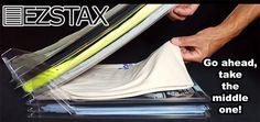 EZSTAX: Interlocking Dividers To Keep Stacks Of Clothing Organized