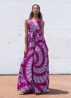 NEW The Diana Maxi Dress ~African fashion, Ankara, kitenge, African women… African Inspired Fashion, African Print Fashion, Africa Fashion, Ethnic Fashion, Fashion Prints, African Prints, Men's Fashion, Fashion Dresses, African Dresses For Women