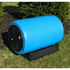 Good Ideas 55 Gallon Compost Wizard Recycled Plastic Compost Tumbler. Speeds up composting as opposed to an old fashioned bin.