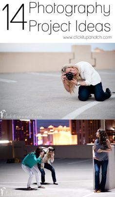 Photography Projects via Click it Up a Notch #digitalphotographyprojects