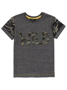 Contrast Camouflage T- shirt, read reviews and buy online at George. Shop from our latest range in Kids. Update their everyday outfit with this great value c...