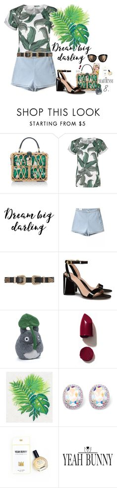 """#"" by gabyidc ❤ liked on Polyvore featuring Dolce&Gabbana, B-Low the Belt, Tory Burch, Gund, NARS Cosmetics, Palm Beach Jewelry and Yeah Bunny"