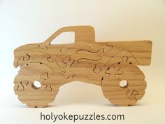 Monster Truck Jigsaw Puzzle by HolyokePuzzles on Etsy