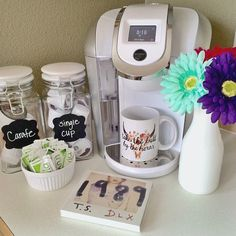 How amazing is this Keurig coffee corner by Instagram fan kristikay__. With a Keurig brewer in your kitchen, you can enjoy a Keurig Brewed beverage at the touch of a button!
