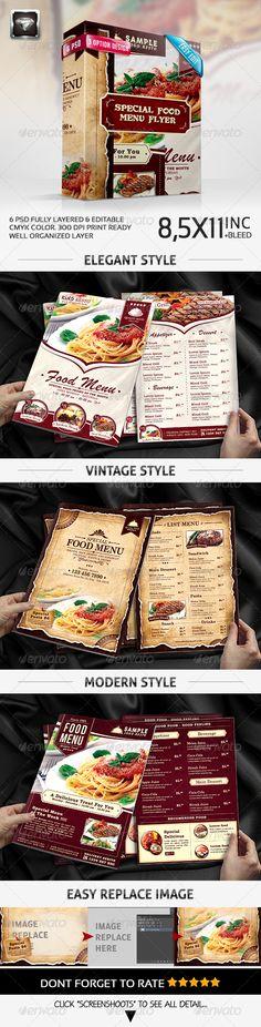 Special Food Menu Flyer Template #design #speisekarte Download: http://graphicriver.net/item/special-food-menu-flyer-/7597926?ref=ksioks