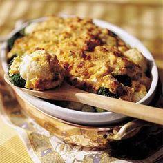 Broccoli-and-Cauliflower Gratin Recipe | MyRecipes.com