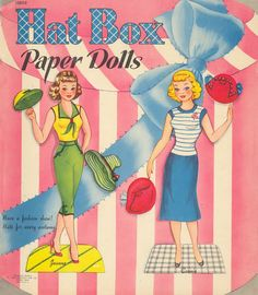 Kathleen Taylor's Dakota Dreams: Thursday Tab- Saalfield Hatbox Dolls 1954