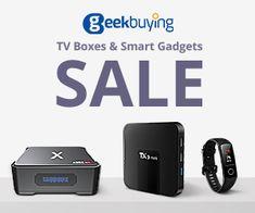 Geekbuying - TV Boxes Smart Gadgets Sale Flip Clock, Gadgets, Boxes, Electronics, Tv, Crates, Box, Tvs, Cases