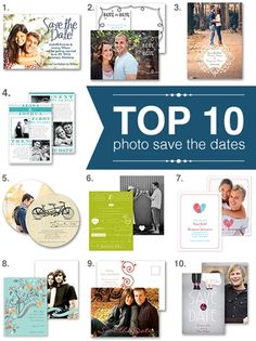 top 10 photo save the dates