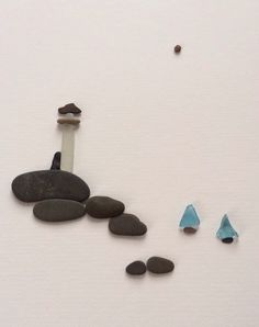 Sharon Nowlan original art Pebble Art of NS by PebbleArt on Etsy, $120.00