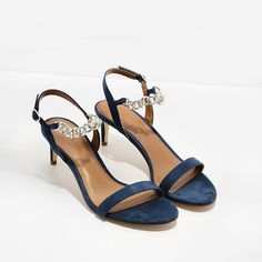 Blue Chain Detail Sandals | CHARLES & KEITH