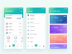 Kaya : Wallet App Wallet App is made with love for details and fast workflow. - My Design Ideas 2019 Graphic Design Print, Ad Design, Design Ideas, Android Ui, Android Design, App Home Screen, Dashboard App, Interface Design, User Interface