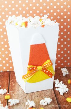 Candy Corn Popcorn - Laura's Crafty Life