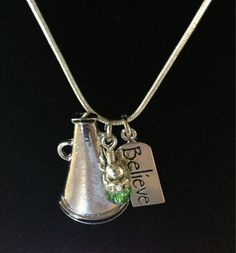 Sporty Girl Cheer Necklace Believe by SportyGirlBoutique on Etsy, $17.00