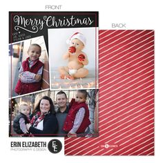 Merry Christmas Card! Love this design, how cute would this be to send to your family this year? #customcards #holidays #merrychristmas