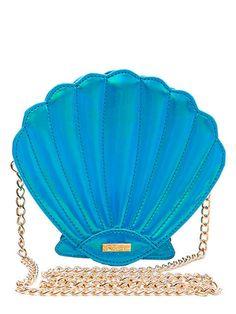 Aqua Shell Cross Body Bag