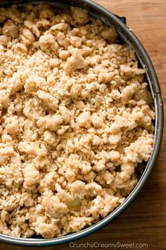 The best crumb topping on an apple coffee cake