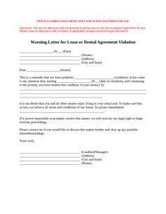 LandlordS Notice Of NonRenewal Of Lease To Tenants With Sample
