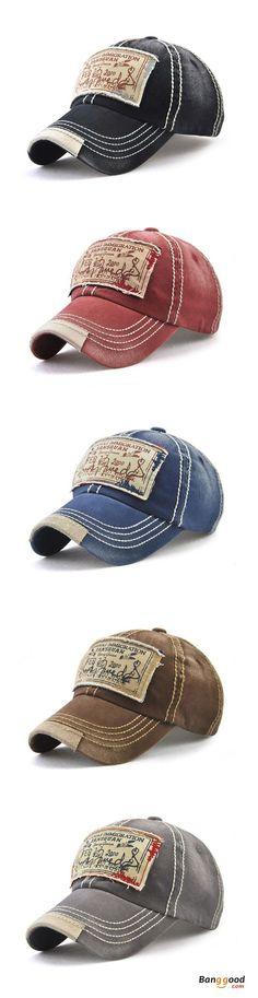 f039c0a35af6f Men Women Washed Cotton Baseball Cap Casual Sport Patch Printing Snapback  Visor Hat Adjustable