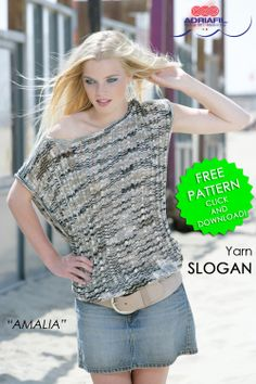 The poetry of #shades and the #brightness of Slogan #yarn by #Adriafil http://www.adriafil.com/uk/scheda-filato.html?id_cat=12&id_gr=3&id_filato=NH join together in this comfy and #trendy #top... fancy to #knit by yourself your own Amalia top? Here's the free #pattern! http://www.adriafil.com/html/img/riviste/mag52/modelli/file_istruzioni/uk/D&R52amaliaENGleaf.pdf