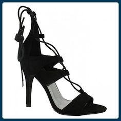 Anne Michelle Damen High Heels mit Schnürung (38 EU) (Schwarz) - Sandalen für frauen (*Partner-Link)