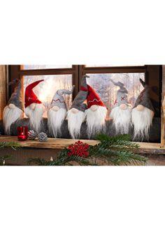 Валик для двери «Гномики» серый/красный/белый - Для дома - bonprix.ru