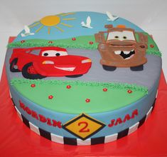 Cars Cake Ideas Mcqueen Tow Mater 53 Ideas For 2019 Lightning Mcqueen Birthday Cake, Lightning Mcqueen Cake, Race Car Birthday, Cars Birthday Parties, Vintage Car Decor, Rich Cars, Tow Mater, Cakes For Boys, Party Cakes