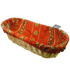 Lisa Red French Baguette Basket with Removable Liner by Le Cluny