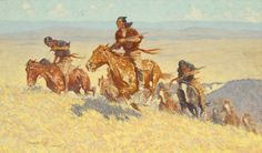 Sid Richardson Museum: Buffalo Runners - Big Horn basin by Frederic Remington