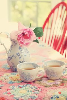 #tea #time #pot #flowers #pink #vase #afternoon