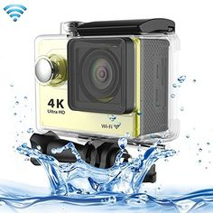 Professional Product Easy to Use H9 4K Ultra HD1080P 12MP 2 inch LCD Screen WiFi Sports Camera, 170 Degrees Wide Angle Lens, 30m Waterproof ( Color : Yellow ). The World's Most Versatile Camera. 1. Brand new and high quality. 2. 2 inch LTPS LCD Screen. 3. Wi-Fi Remote Control. 4. 4K Ultra-HD definition.