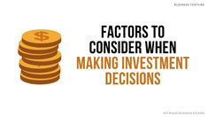 Header image for Factors to Consider when Making Investment Decisions. Things to think about before making an investment decision. Investing is assigning resources, usually money, to assets with the hope of earning profits. Factors include taxation, liquidity, return on investment (RIO), risk and volatility | Investments: Securities Notes. Grade 12 Term 3 Business Studies with Nonjabulo Tshabalala, Qualified South African teacher. NSC Examinations. Business Studies Exam Preparation 16:9 HD… Past Exam Papers, Past Exams, Business Studies, Header Image, Study Notes, Factors, Rio, Investing, Teacher
