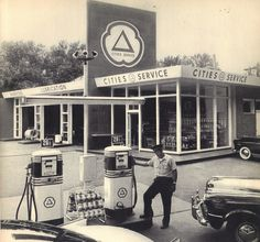 Cities Service gas stations designed by Henry Dreyfuss