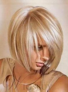#WigsBuy - #WigsBuy Soft Layered Cut Fashion Short Straight Blonde 100% Human Hair Bob Wig 10 Inches - AdoreWe.com