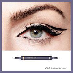 ¿Deseas probar algo nuevo en maquillaje? Little Black Liner de Estée Lauder te permite crear un contorno divertido en tus ojos. ¡Pruébalo! #XclaimTeRecomienda
