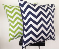 Set of two chevron cushion covers - by blackeyedsusietoo on madeit