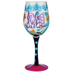 21st Birthday Wine Glass--for 40 and other ages