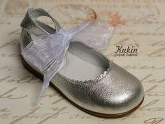 zapatos niña plata