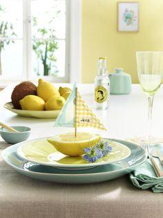 1000+ images about Tischdeko on Pinterest  Lemon yellow, Deko and ...