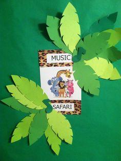 Music Safari Wall with Leaves 2014-2015