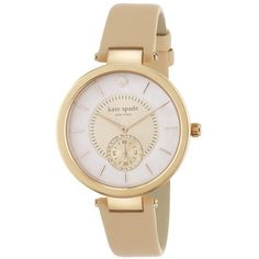 Kate Spade New York Perry Mother-Of-Pearl, Rose Goldtone Stainless... (315 CAD) ❤ liked on Polyvore featuring jewelry, watches, apparel & accessories, kate spade jewelry, pave jewelry, mother of pearl jewelry, kate spade watches and gold tone jewelry