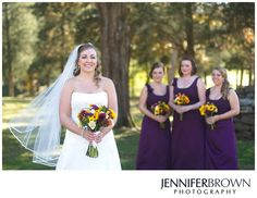 Bridal Party in Purple - Jennifer Brown, Knoxville Wedding Photographer