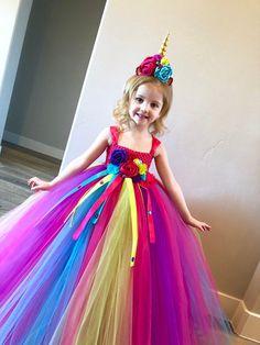 Unicorn Tutu Dress - unicorn birthday dress - unicorn horn - unicorn outfit - birthday dress - halloween costume - unicorn birthday outfit - Our Enchanted Unicorn dress is perfect for your little ones birthday party, Halloween costume, photo -