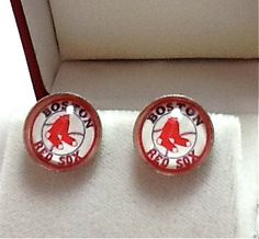 Cuff Links Boston Red Sox Baseball Team by CynthiaCoolBeans, $24.95