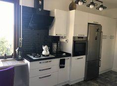 Siyah Beyaz Mutfak Dekorasyonu-Moda