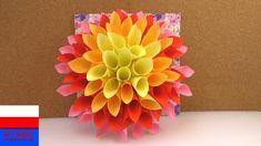 Wielki kwiat z papieru jako wiosenna dekoracja | robimy dalie z kartek d...