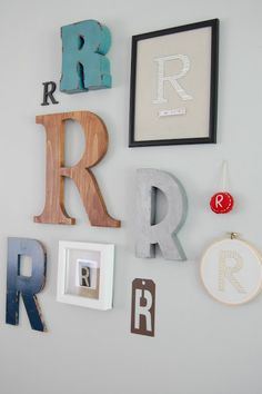 Vintage Violet Style: Family Monogram Wall