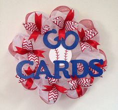 Hey, I found this really awesome Etsy listing at https://www.etsy.com/listing/176853105/st-louis-cardinals-baseball-deco-mesh