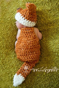 Love Fox props Fox Hat, Newborn Girl Hat. $48.00, via Etsy.