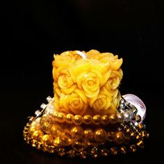 Rose BeesWax Candle - Cute & Ideal as a Gift or as a home Decoration| www.WarmCandle.com